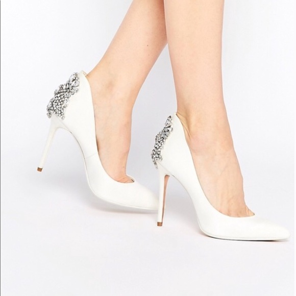Ted Baker Heels White Cream Silver
